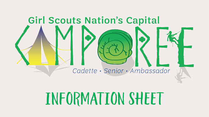 This is the graphic for the Camporee 2020 information sheet
