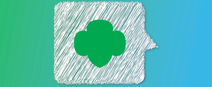 This is the Girl Scout Story Graphic which is for a purely decorative purpose.