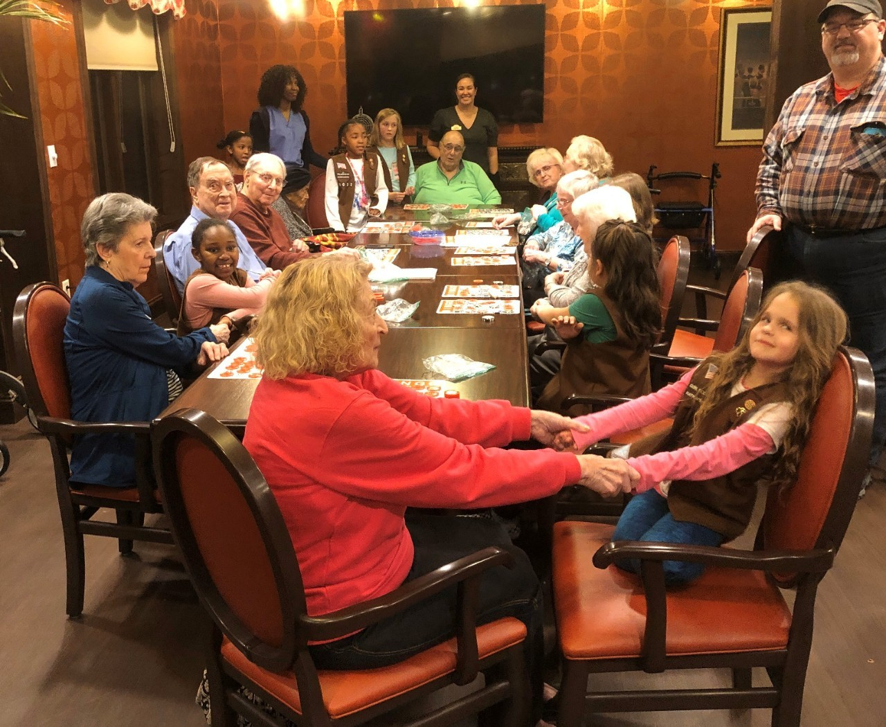 Troop 60033 with Assisted Living Residents